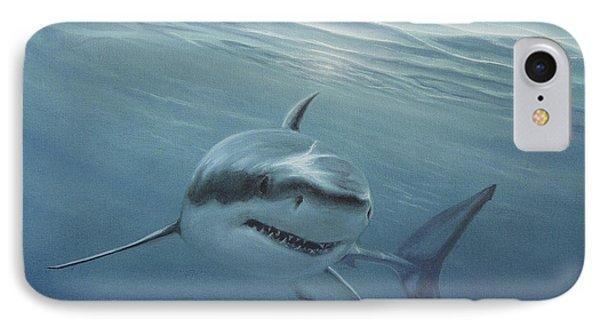 White Shark IPhone Case by Angel Ortiz