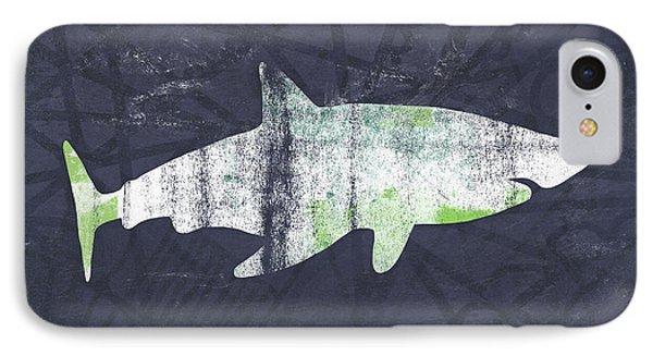 White Shark- Art By Linda Woods IPhone 7 Case by Linda Woods