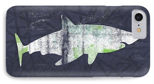 White Shark- Art By Linda Woods IPhone Case by Linda Woods