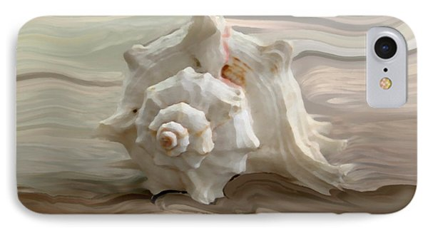 White Shell IPhone Case by Linda Sannuti
