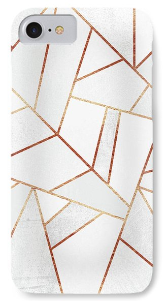 White Stone And Copper Lines IPhone 7 Case by Elisabeth Fredriksson