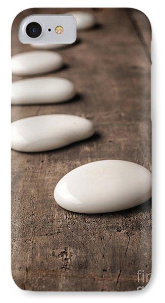 White Stones On Wood IPhone Case
