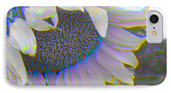 White Sunflower Phone Case by Vicky Brago-Mitchell