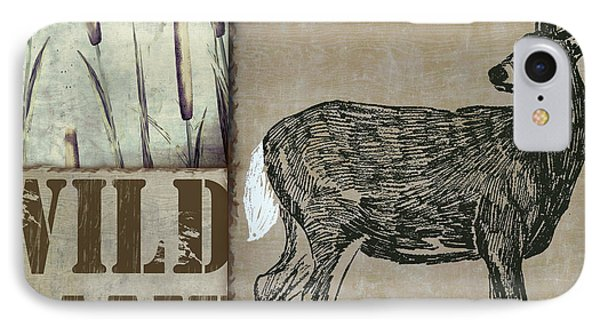 White Tail Deer Wild Game Rustic Cabin IPhone Case by Mindy Sommers