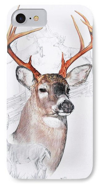 White-tailed Deer IPhone Case by Barbara Keith