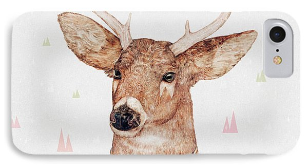 White Tailed Deer Square IPhone Case by Animal Crew