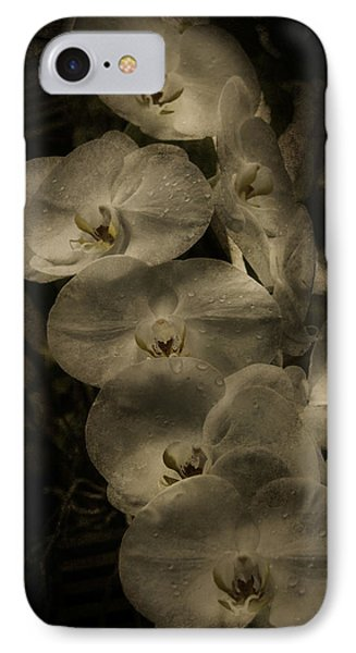 IPhone Case featuring the photograph White Textured Flowers by Ryan Photography