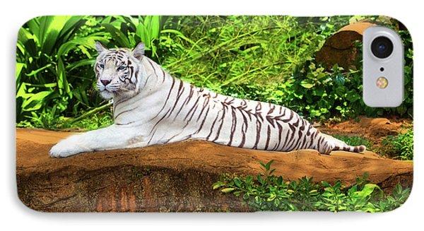 White Tiger Phone Case by MotHaiBaPhoto Prints
