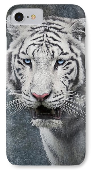 White Tiger IPhone Case by Wim Lanclus