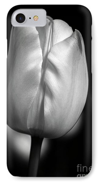 IPhone Case featuring the photograph White Tulip by Chris Scroggins