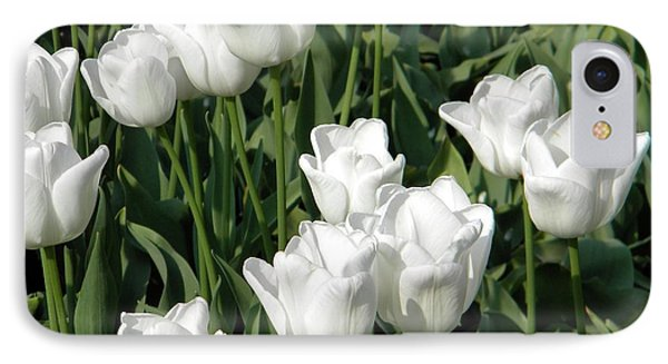 IPhone Case featuring the photograph White Tulips by Manuela Constantin