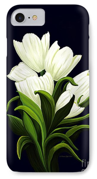 IPhone Case featuring the painting White Tulips by Patricia Griffin Brett