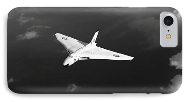 IPhone 7 Case featuring the digital art White Vulcan B1 At Altitude Black And White Version by Gary Eason