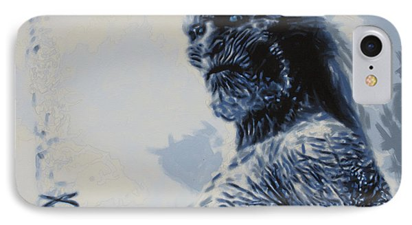 IPhone Case featuring the painting White Walker by Luis Ludzska