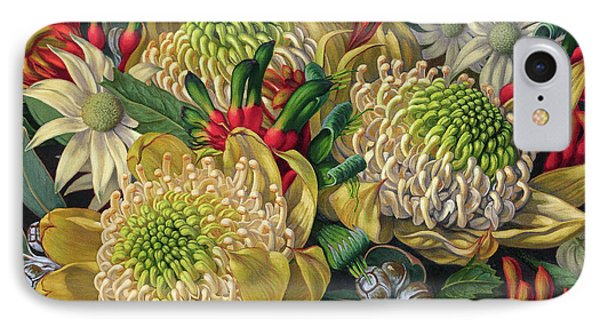 White Waratahs Flannel Flowers And Kangaroo Paws IPhone 7 Case