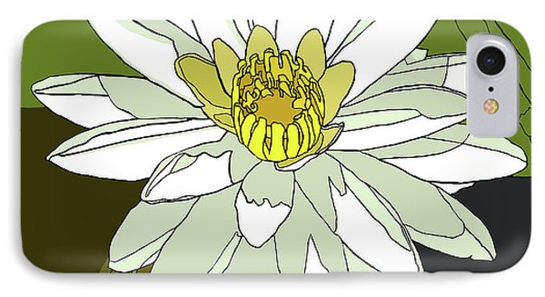 White Water Lily IPhone Case by Jamie Downs