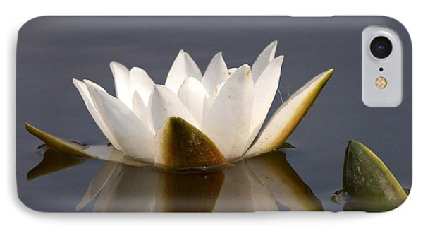 IPhone Case featuring the photograph White Waterlily 2 by Jouko Lehto
