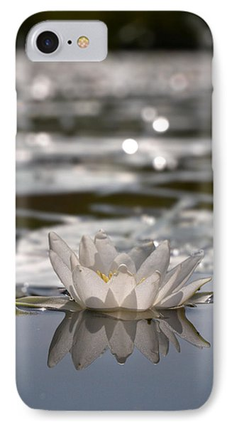 IPhone Case featuring the photograph White Waterlily 3 by Jouko Lehto