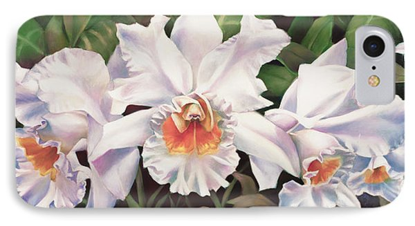 White Wedding Orchid IPhone Case