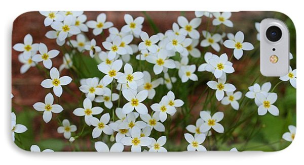 IPhone Case featuring the digital art White Wildflowers by Barbara S Nickerson