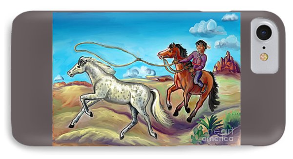 White Wind And Knotty Whiskers - Story Illustration - Age 12 IPhone Case by Dawn Senior-Trask