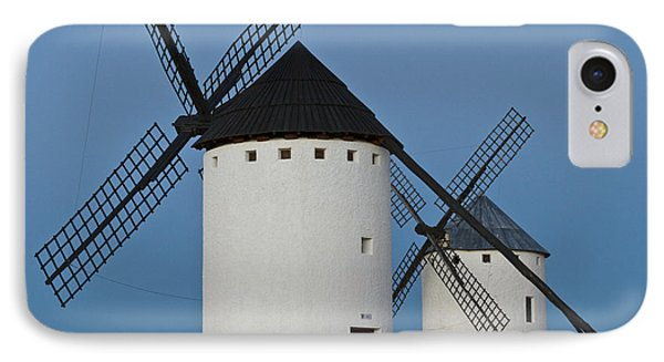 IPhone Case featuring the photograph White Windmills by Heiko Koehrer-Wagner