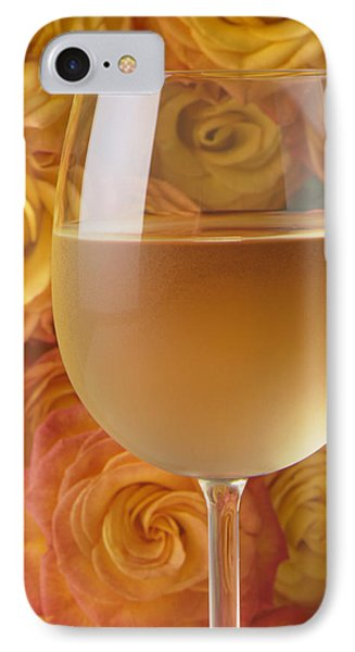 White Wine And Yellow Roses IPhone Case by Garry Gay