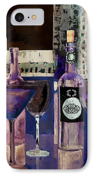 White Wine Inverted Phone Case by Arline Wagner