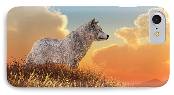 White Wolf IPhone Case by Daniel Eskridge