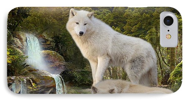 White Wolf Falls2 IPhone Case