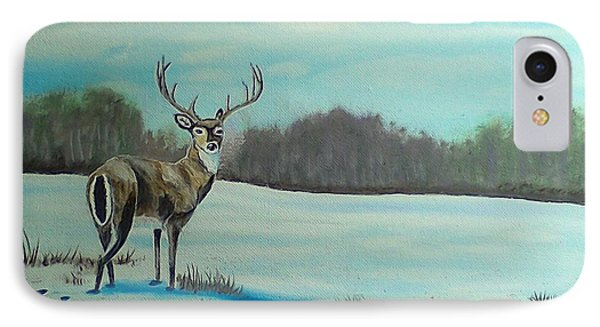 Whitetail Buck IPhone Case by Brenda Bonfield
