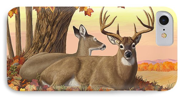 Whitetail Deer - Hilltop Retreat IPhone Case