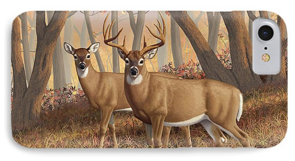 Whitetail Deer Painting - Fall Flame IPhone Case