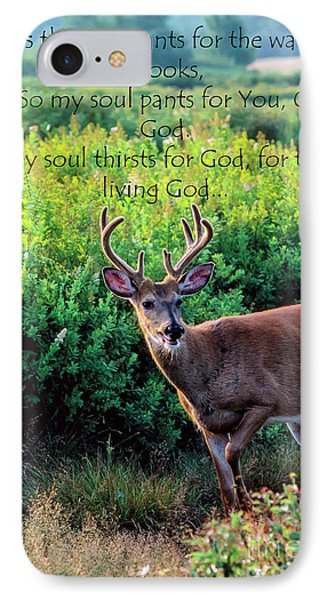 IPhone Case featuring the photograph Whitetail Deer Panting by Thomas R Fletcher
