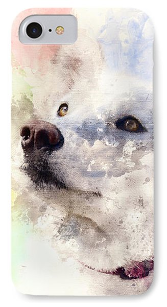 Whitey Digital Watercolor Painting IPhone Case