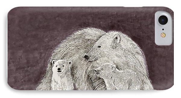 Polar Bear Family IPhone Case by Jack Pumphrey