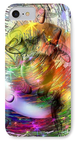 IPhone Case featuring the digital art who is already looking into the future by Nicobielow by Nico Bielow