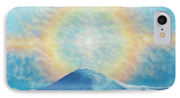 Who Makes The Clouds His Chariot Fire Rainbow Over Alberta Peak IPhone Case by Anastasia Savage Ealy