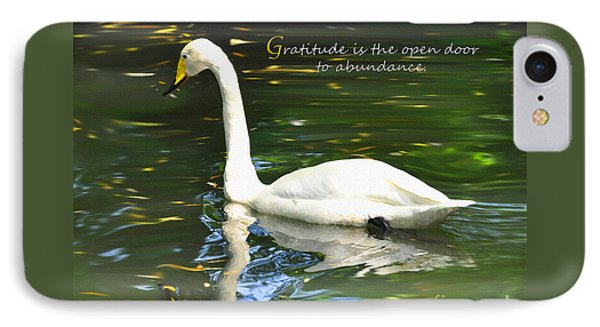 IPhone Case featuring the painting Whooper Swan Gratitude by Diane E Berry
