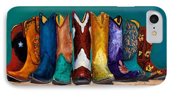 Why Real Men Want To Be Cowboys 2 IPhone Case by Frances Marino
