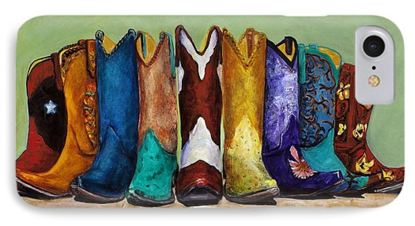 IPhone Case featuring the painting Why Real Men Want To Be Cowboys by Frances Marino