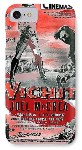 Wichita Movie Poster Joel Mccrea As Wyatt Earp 1955-2015 IPhone Case by David Lee Guss