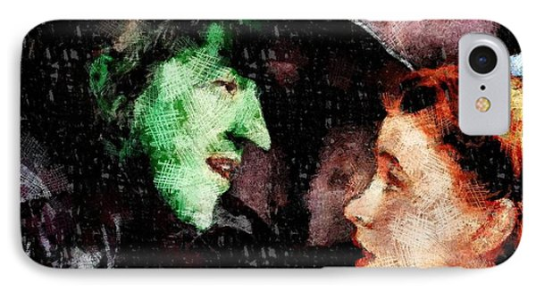 Wicked Witch And Dorothy, Wizard Of Oz IPhone Case by John Springfield