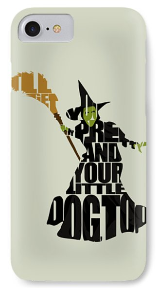 Wicked Witch Of The West IPhone 7 Case by Ayse Deniz