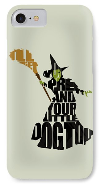 Wizard iPhone 7 Case - Wicked Witch Of The West by Inspirowl Design