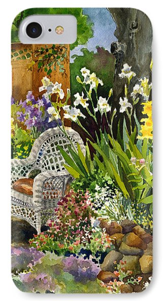 IPhone Case featuring the painting Wicker Chair by Anne Gifford