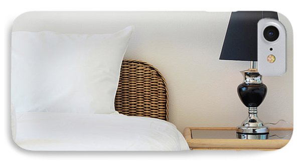 IPhone Case featuring the photograph Wicker Rattan Bed by Atiketta Sangasaeng