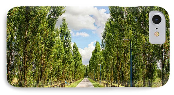 Wide Road With Trees IPhone Case by Patricia Hofmeester