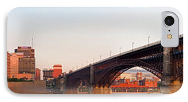 Wide View Of St Louis And Eads Bridge IPhone Case by Semmick Photo