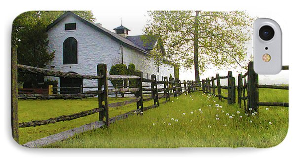 Widener Farms Horse Stable Phone Case by Bill Cannon